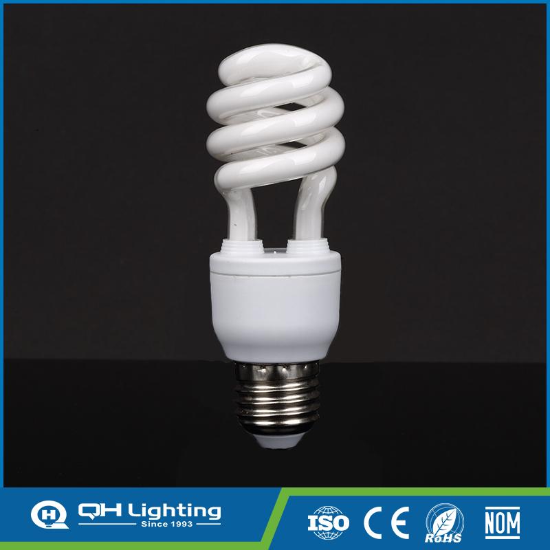 3years warranty 13W half spiral fluorescence led light bulb
