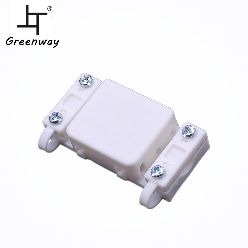 White IP20 electrical plastic terminal block connector junction box