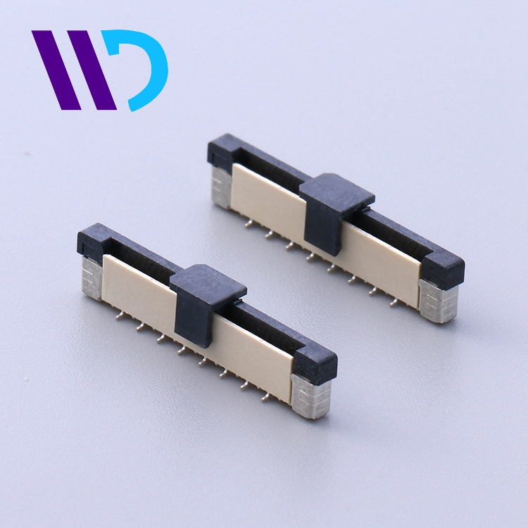 Factory supply 1.0mm pitch 4.5H LCP Brass FPC pull series connector