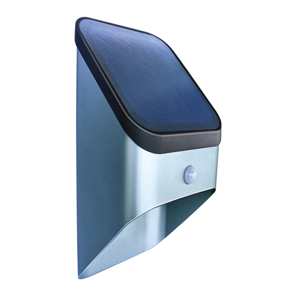 LED wall light with motion sensor and high efficiency solar panel