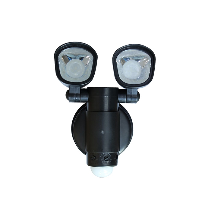 Outdoor solar double head induction wall light