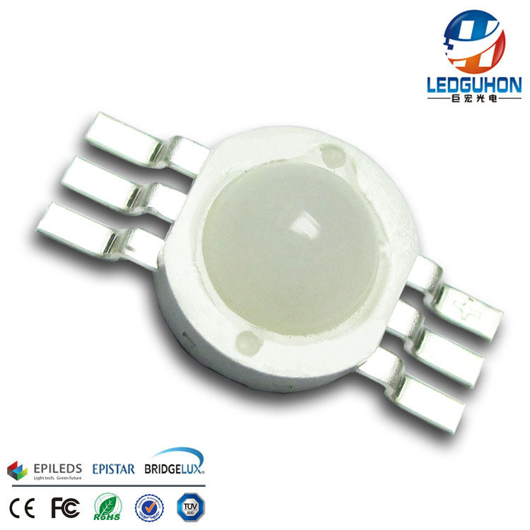 diffused lens 3w rgb led diode