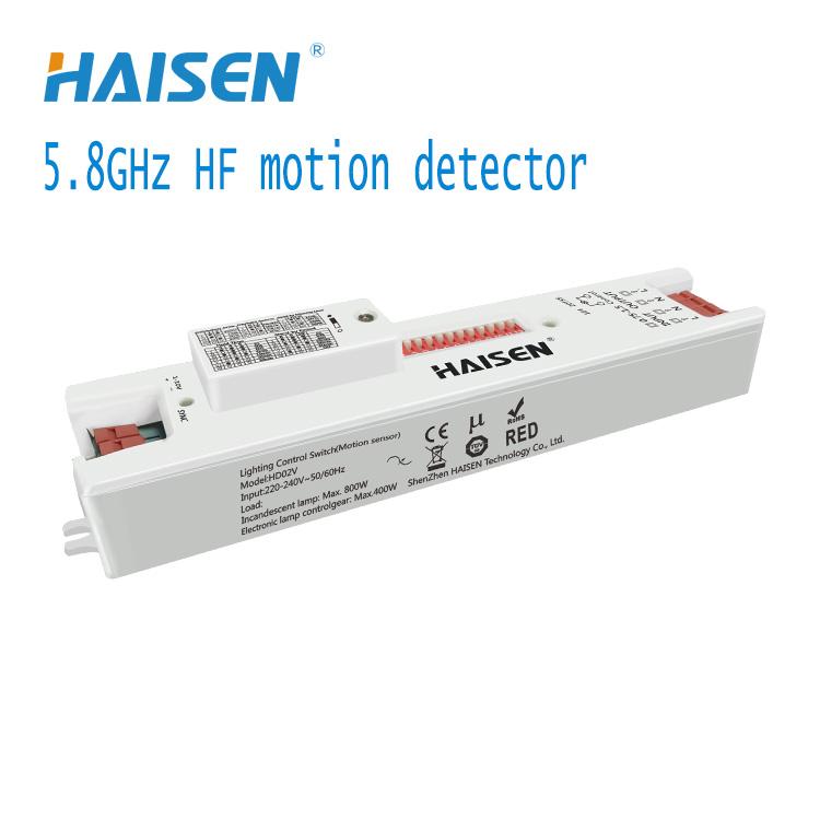 HD02V Linear slim size Dimmable HF motion sensor