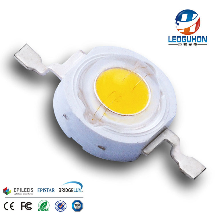 factory make warm white 1w led diodes 3000k CCT