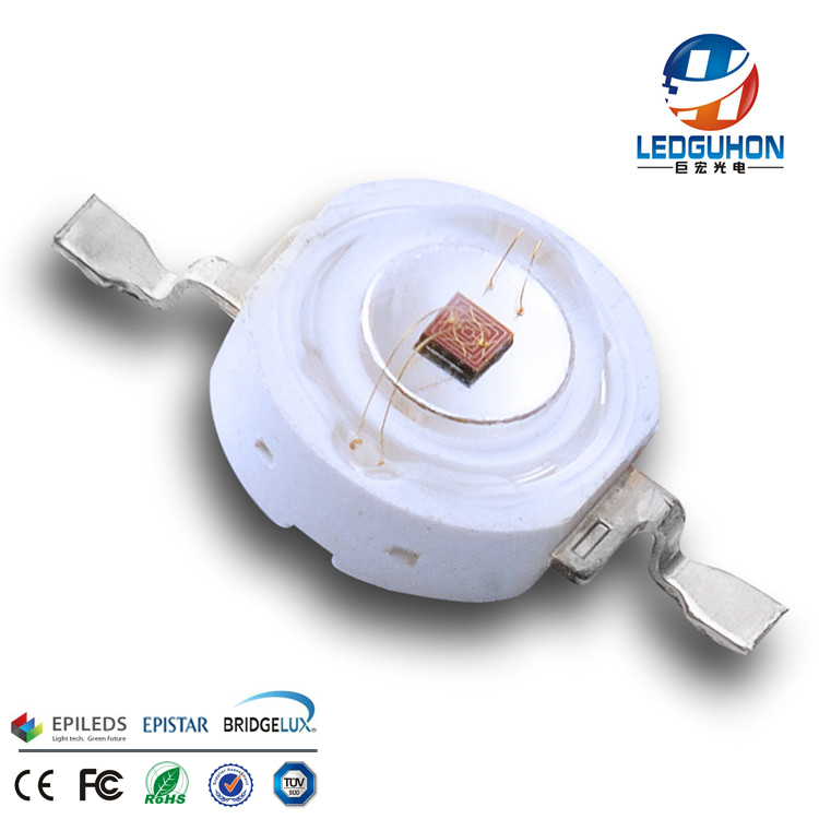 3W Epileds 42mil red color led diode for led flood light