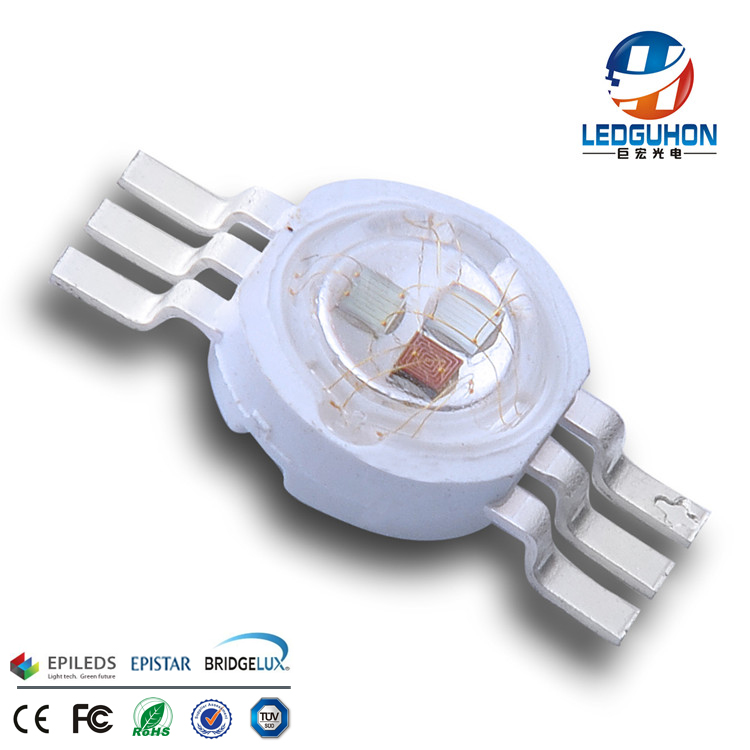 Guangzhou 6 pins 9w RGB high power led chip