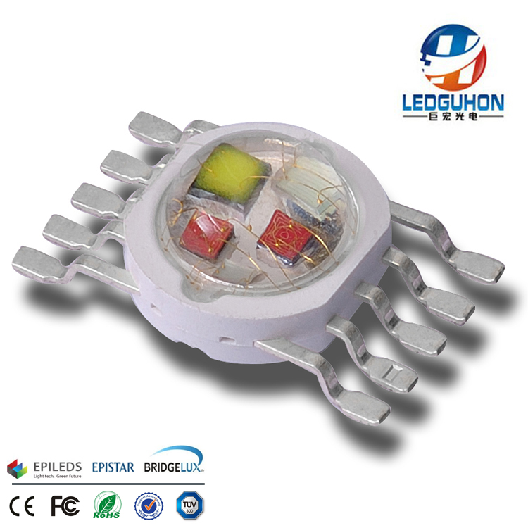 wholesale 5in1 rgbwy 10w led diodes