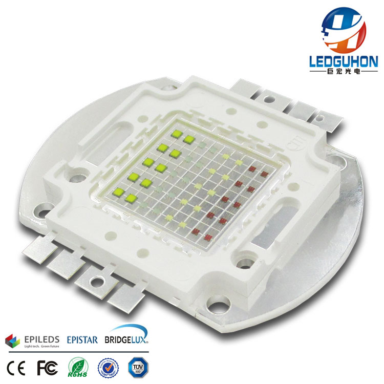CE ROHS approved high power RGBW cob led 40W Epileds chip packaging
