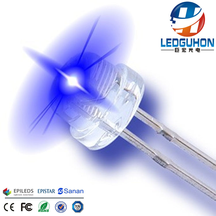 Guangzhou 5mm blue straw hat dip led lamp used for led writing board