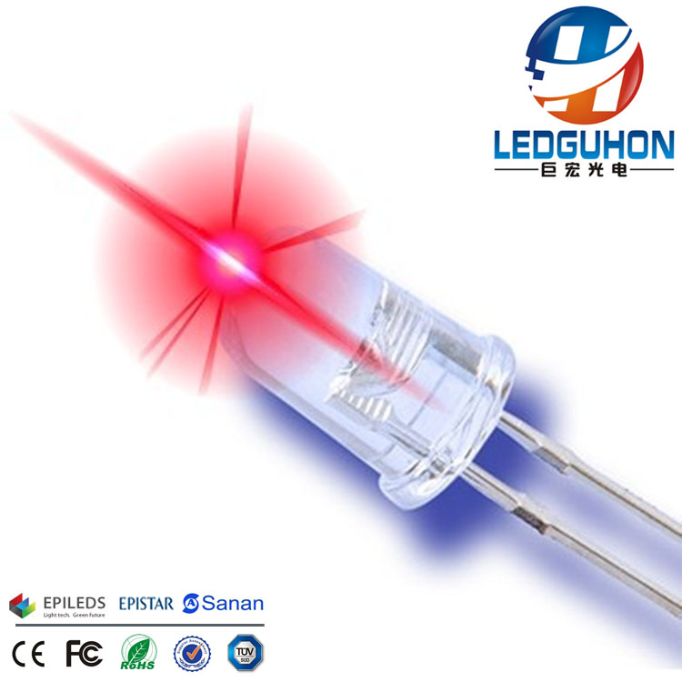 5mm round red led light emitting diode used for led emergency light