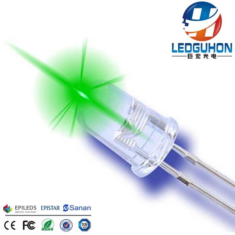 5mm round green led light emitting diode
