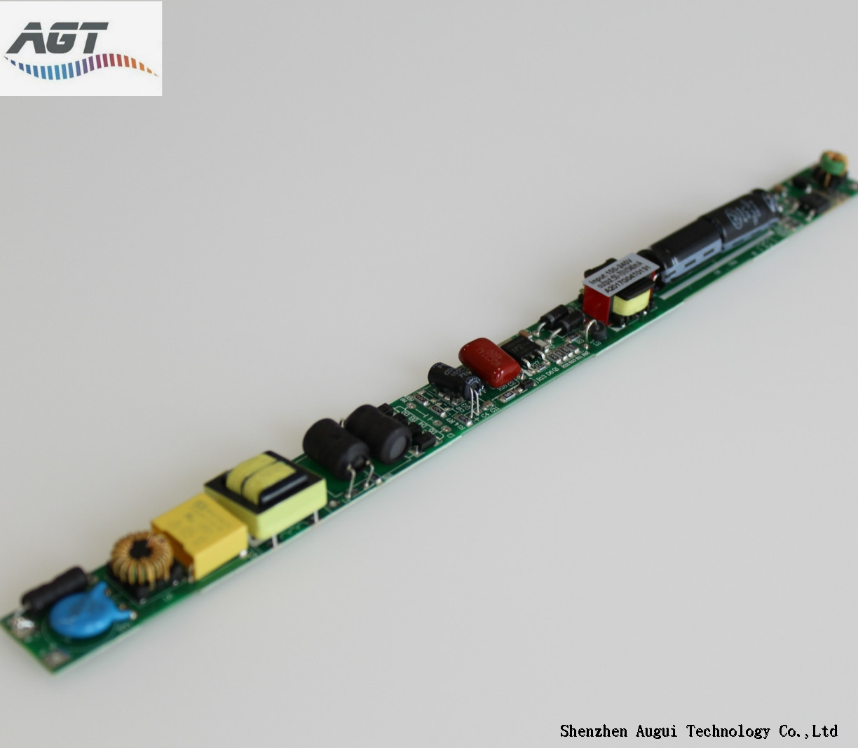 no flicker 100-240VAC high efficiency 120-300ma led tube driver