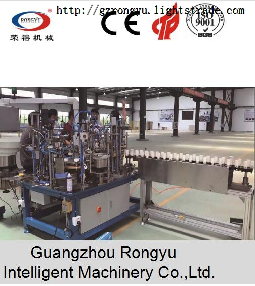LED bulb light semi-automatic assembly line Made in China