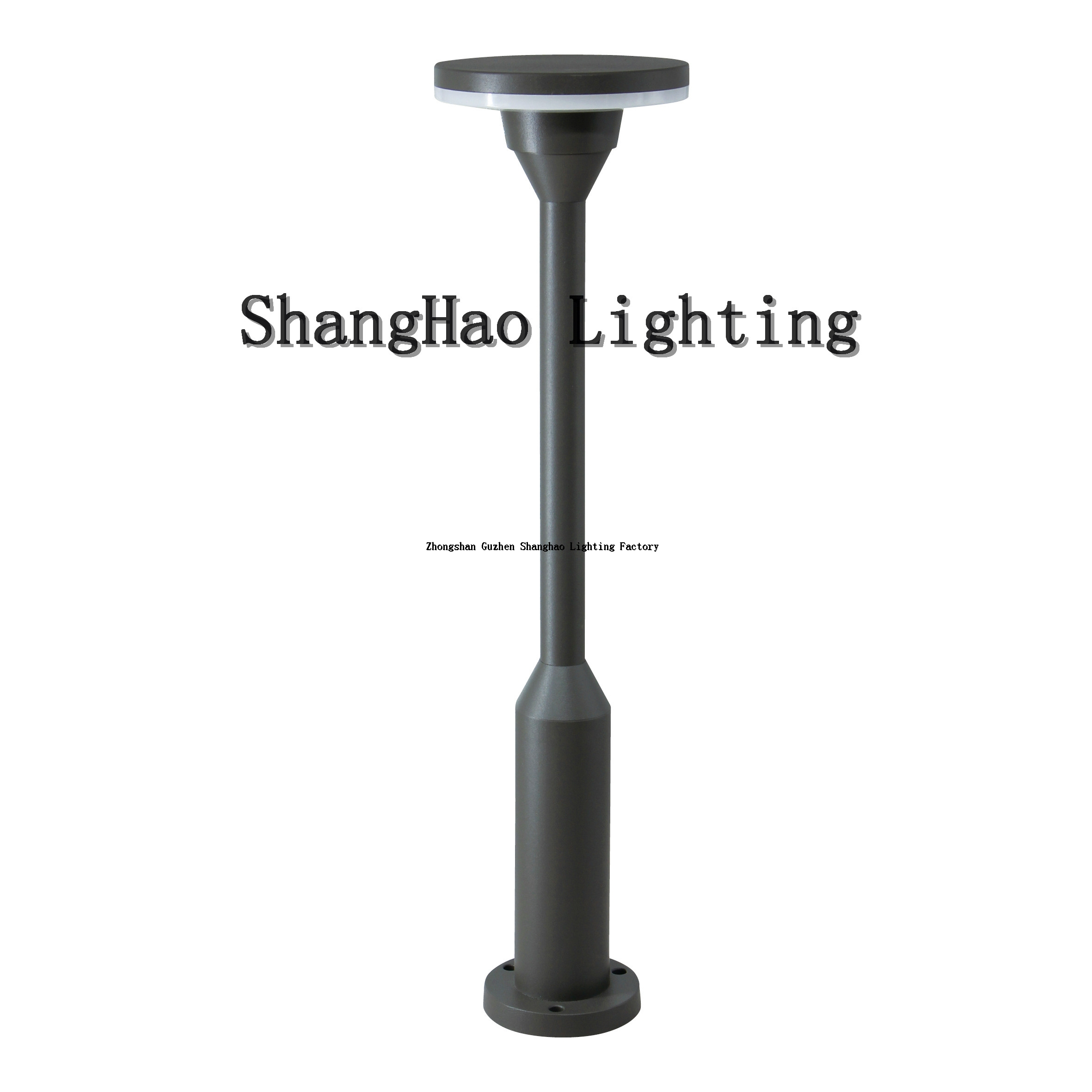 12w Round Height 600mm Aluminum IP65 Waterproof LED Lawn Light