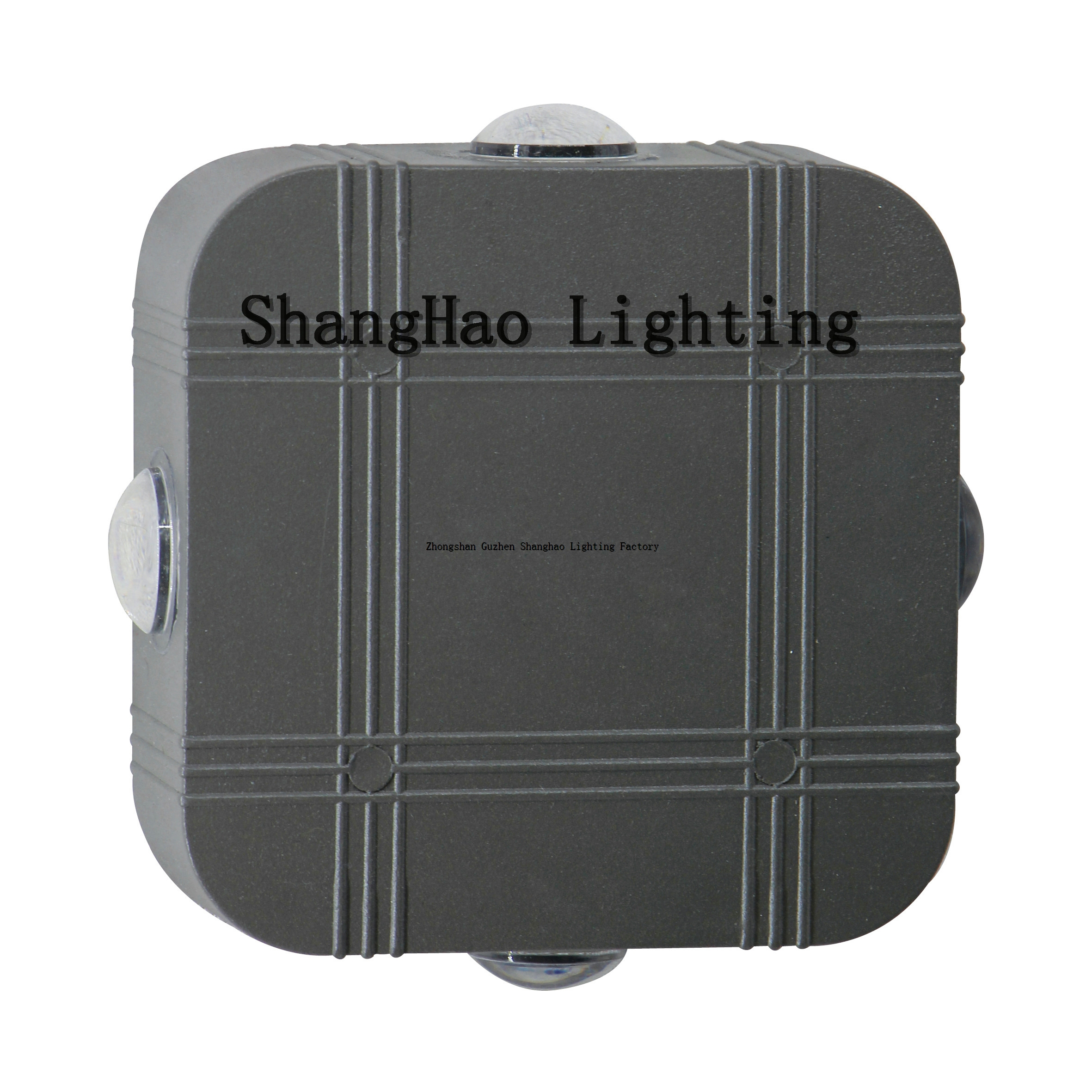 Aluminum IP65 Waterproof Square 4x3w Grey Shell LED Wall Lamps
