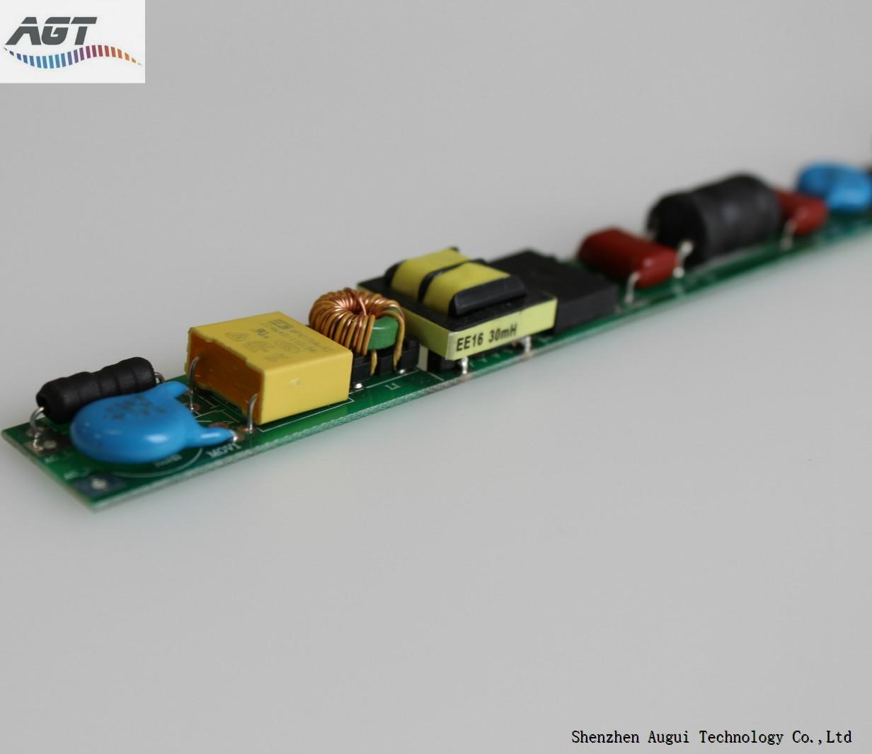 very thin led tube lighting low THD led tube driver