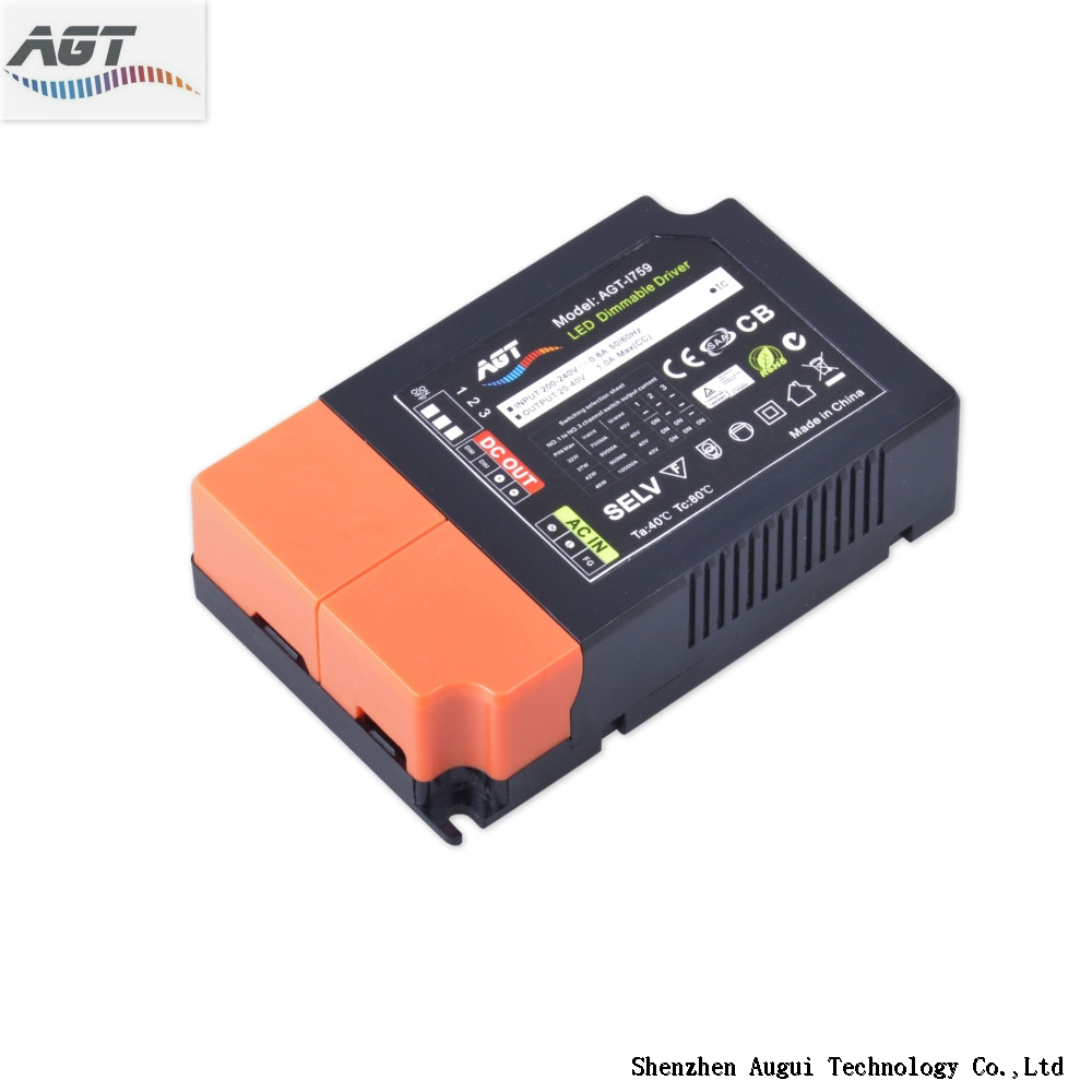 220 volt 3-in-1 dimmable dip switch down light led driver