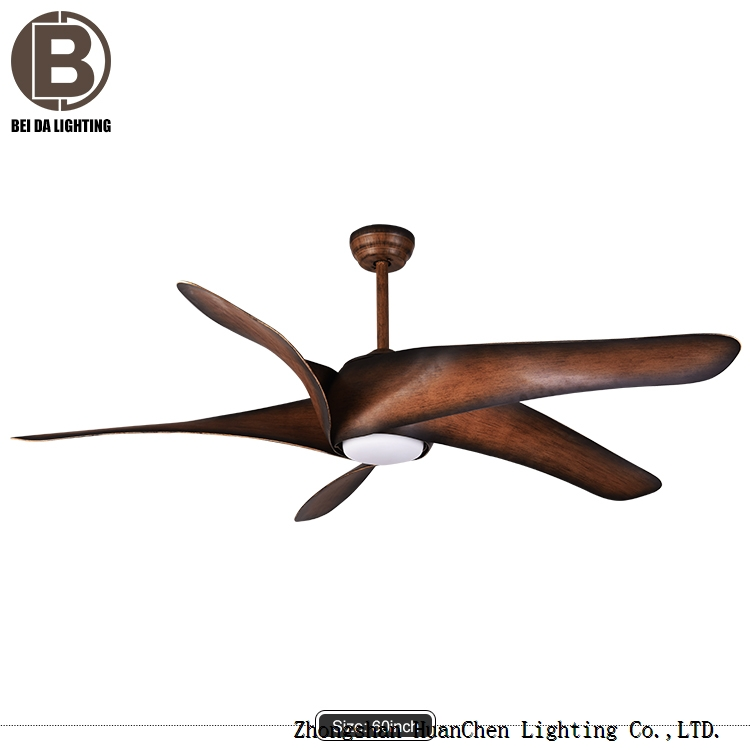 12W Brown Ceiling Fan Light 52 inches 110V 220V 5 Ceiling Fan with Light