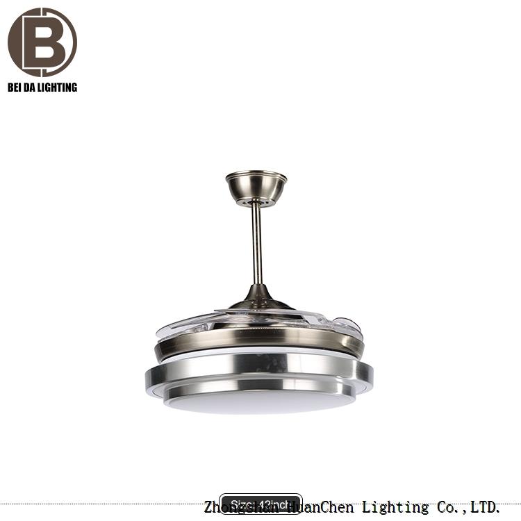 Gold Ceiling Fan Lights Telescopic Chandeliers Lighting Pendant Fixtures Lamp