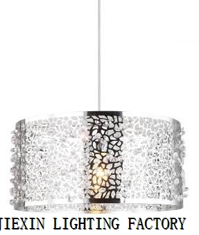 Modern simple chandelier stainless steel crystal chandelier