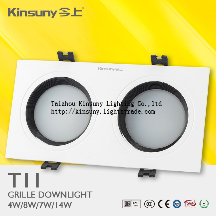 Hot sale indoor recessed smd2835 2x4w led grille light