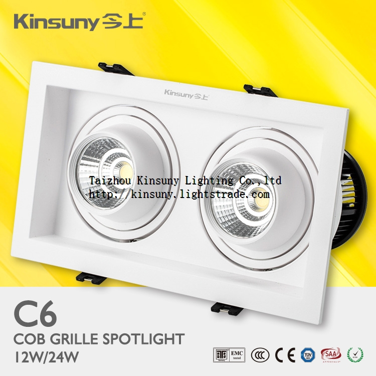 High Quality Square Recessed LED Grille Spot Downlight fixture