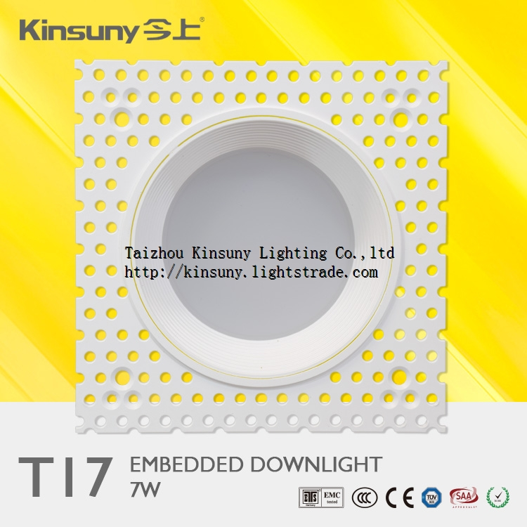 7w 15w dimmable led embedded trimless led down lights