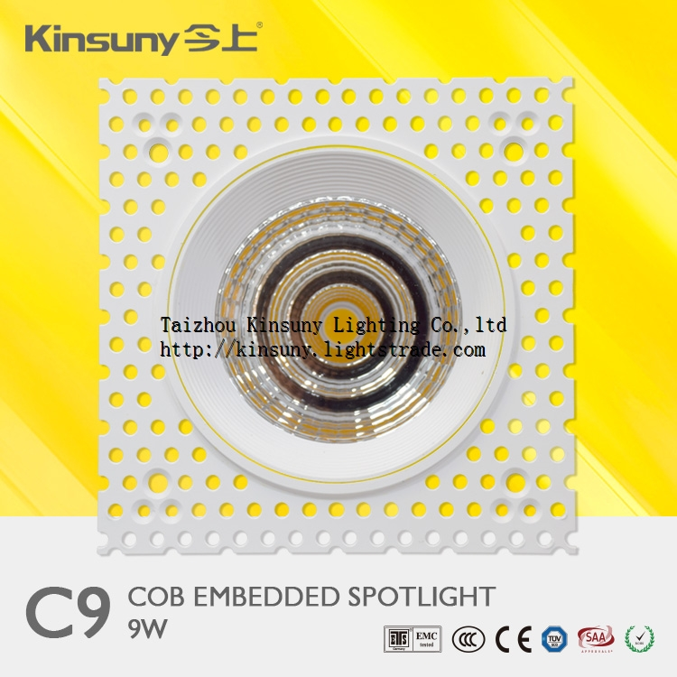 China factory innovative design cob light fixture of ceiling trimless led down light embedded