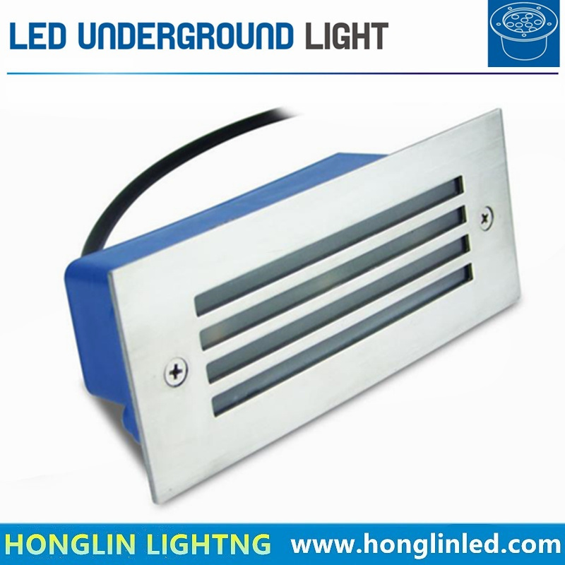 Outdoor Garden Stainless Steel Surface IP65 3W 12V LED Underground Light