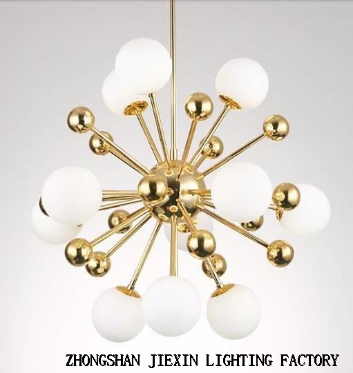 European style modern round ball glass chandelier