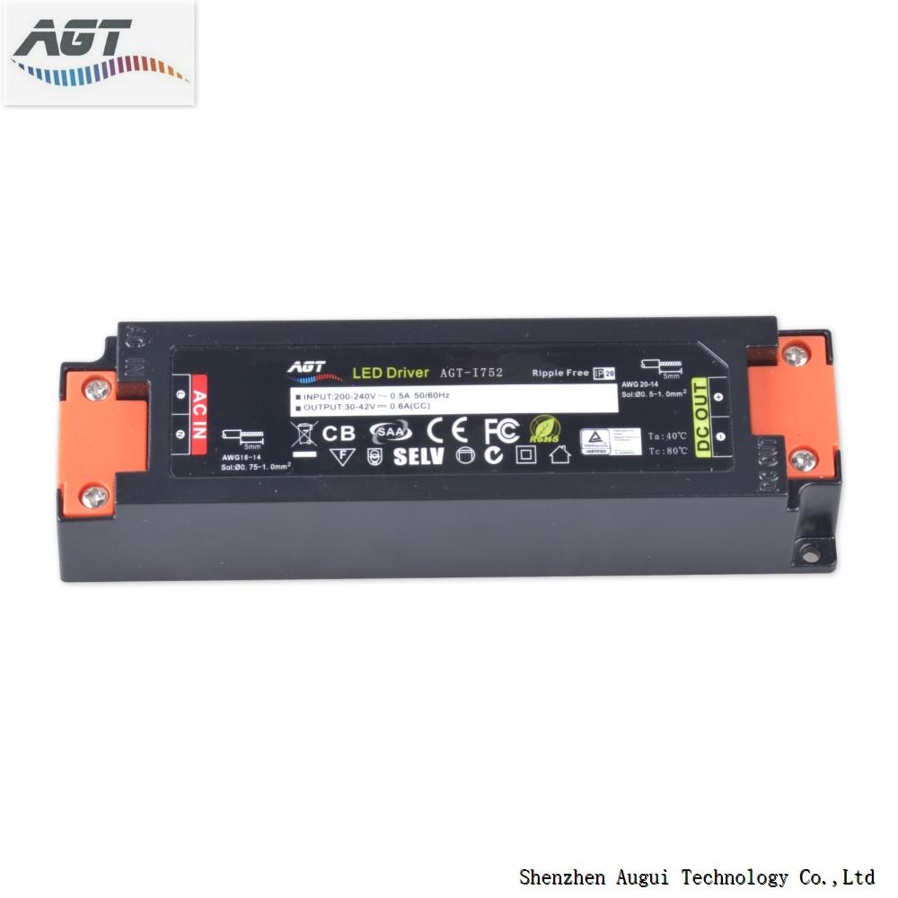 60w indoor lighting IP20 220 volt input led driver