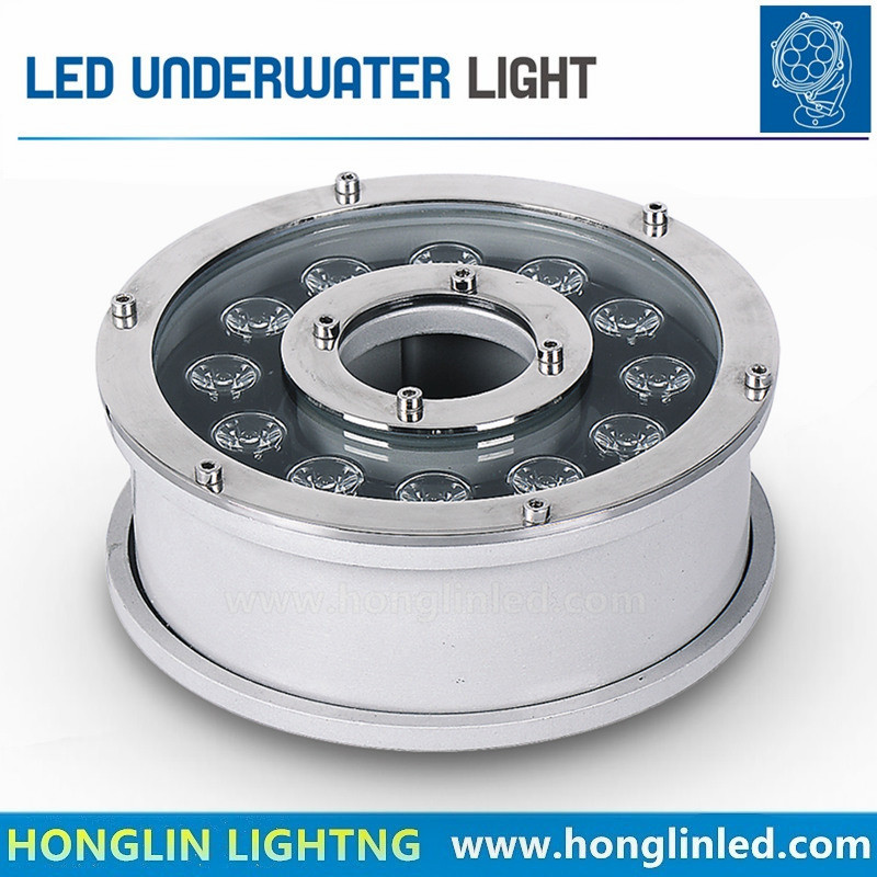 12W LED Fountain Light 45mil IP68 LED Underwater Light
