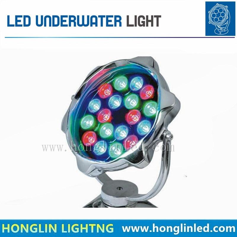 RGB 18W LED Outdoor Landscape WaterproofGarden Underwater Light