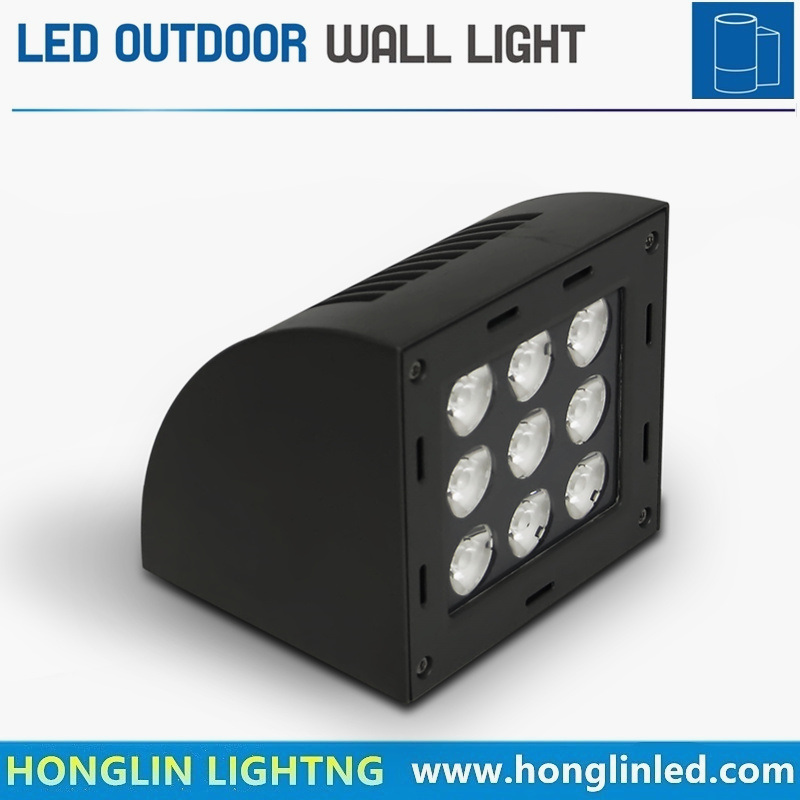 Warm White Aluminum IP65 Wall Mounted 9X3w 27W LED Outdoor Wall Lighting
