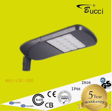180W LED Street Light BUC-L3C-180 with 5050 Chips Efficient Work Friendly Environment