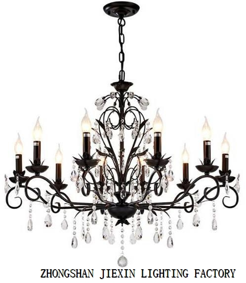 American crystal chandelier traditional household chandelier.