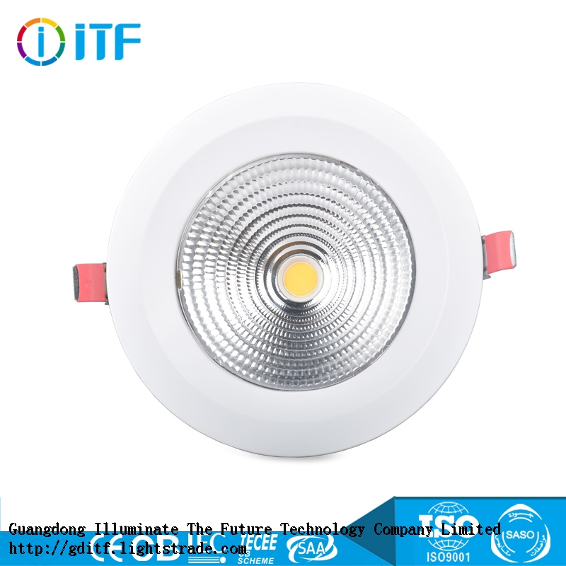 Factory direct sell 8 inch recessed led cob downlight with 2 years warranty