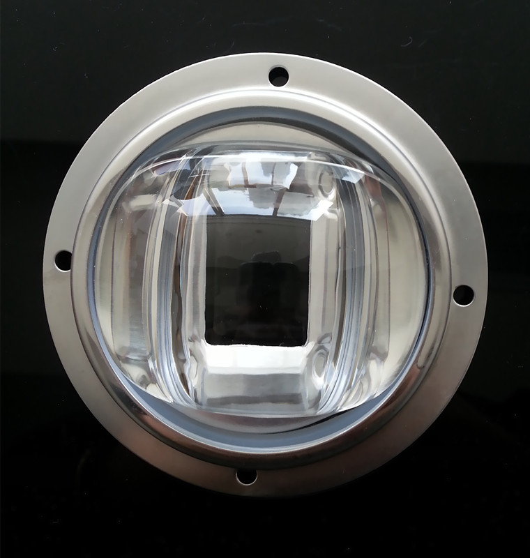78mm COB LED glass lens 130X80 beam angle for street light led