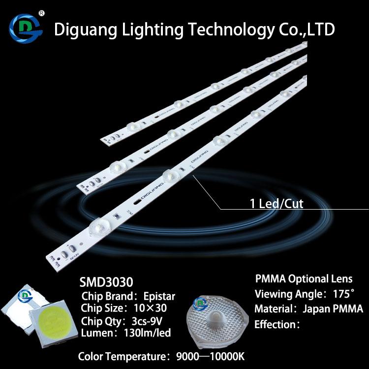 Diguang Energy Saving 12v 3030 LED Lighting Bar for Light Box