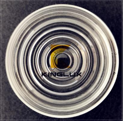 High quality 78mm led chips glass fresnel lens for sale