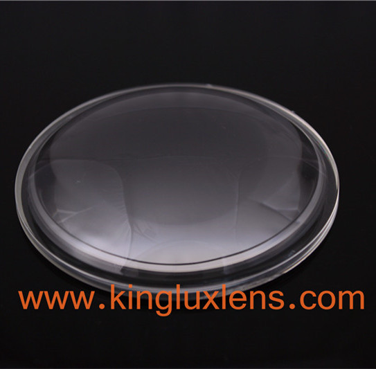 100mm 100 degree optical led glass lens with fixtures for COB led high bay light