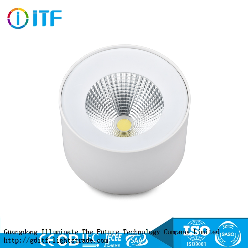 High quality suspended or surface mounted downlight for commercial use