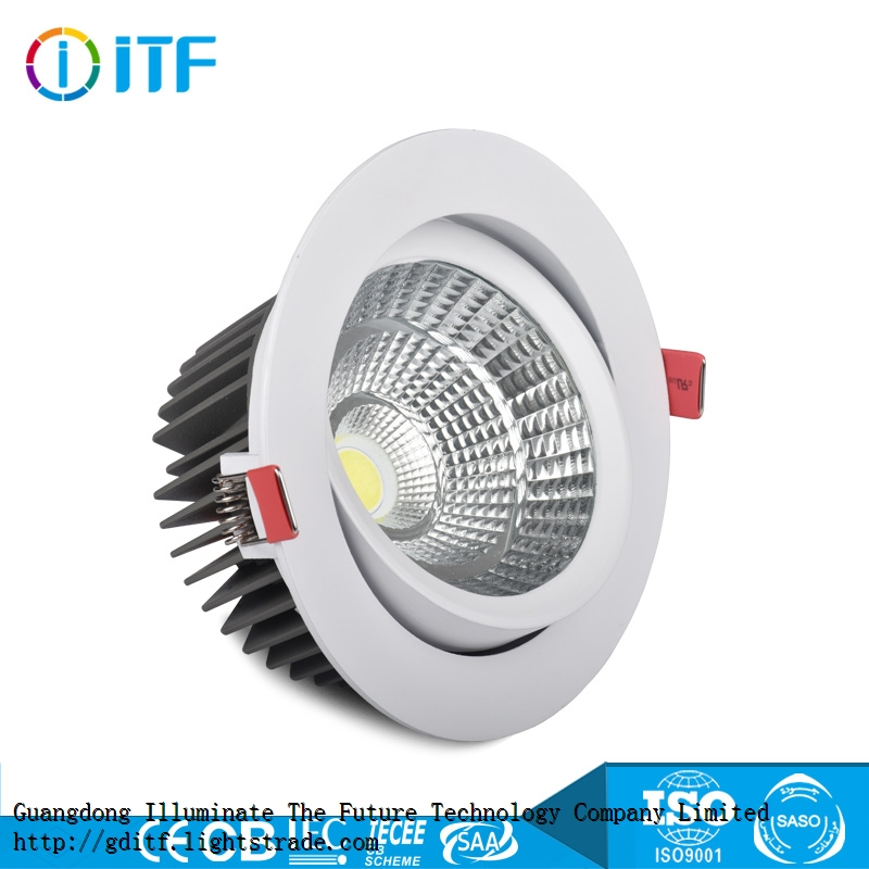 Hot Sales Adjustable Angle Commercial COB Ceiling LED Spot Light