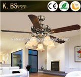 New Products Fashion European Style Ceiling Lamp Fan Rope Control Light Bronze Silent Modern Ceiling