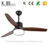 Home Decoration Customized Design 3 Plywood Blade Led New Ceiling Fan With Light