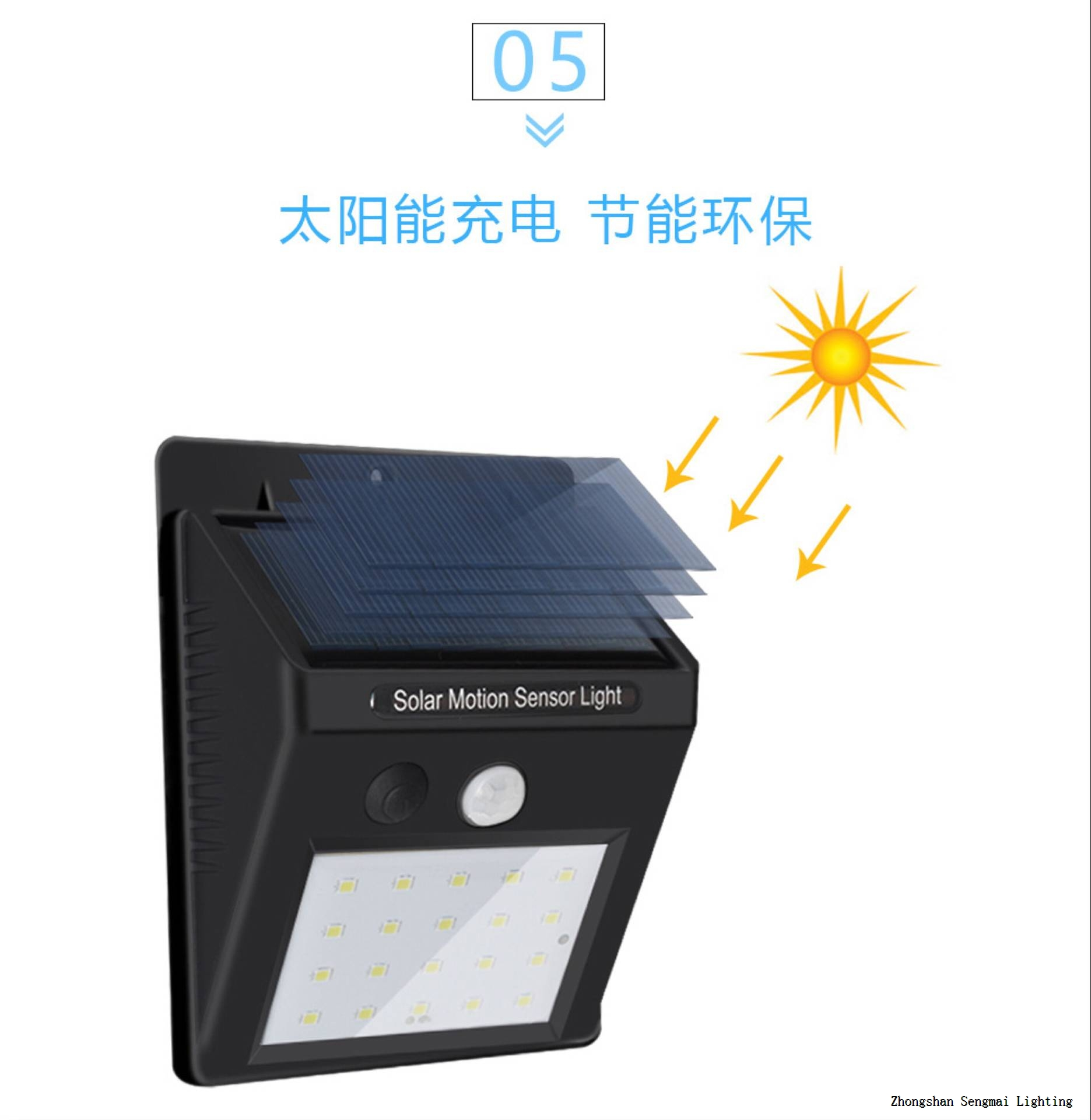 Multi-purpose solar small wall lamp.