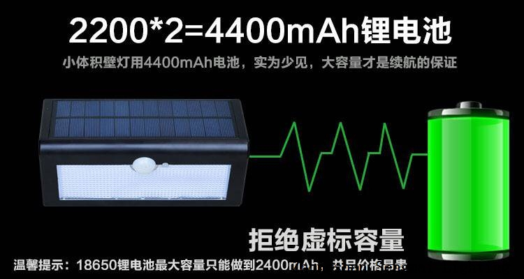 Waterproof solar wall lamp.Solar radar sensor light