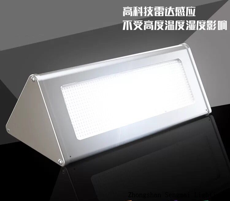Waterproof high quality aluminum alloy solar wall lamp.
