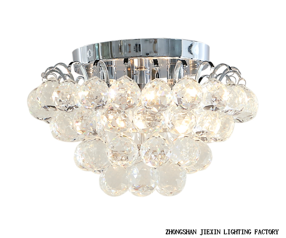 Simple crystal suction lamp restaurant household crystal ceiling light.