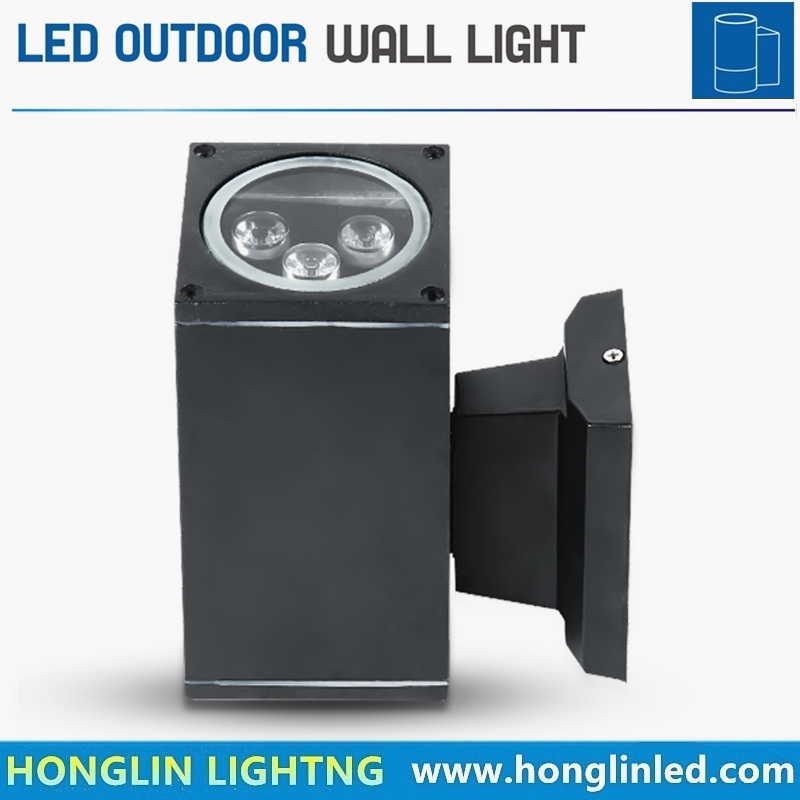 High Quality LED up and Down Exterior Lamp 3wx2 6W Wall Mounted Uplight
